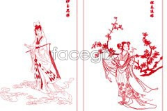 Link tovector drawing line red chai 12 jinling of Dream