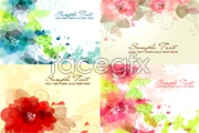 Link toDream water color flower background vector