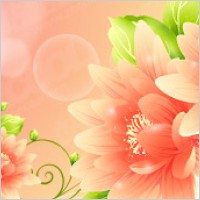 Link toDream with flowers vector background