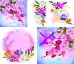 Link toDreamy colors of flowers vector