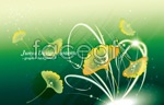 Link toDreamy ginkgo leaves vector