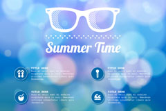 Link toDreamy summer days background vector