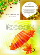 Link to-drenched autumn plants vector
