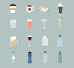 Link toDrinks icon vector