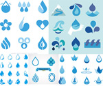Drops icon design vector