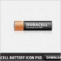 Link toDuracell battery icon free psd