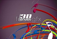 Dynamic 3d musical elements vector