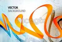 Dynamic and elegant ribbon illustration vector