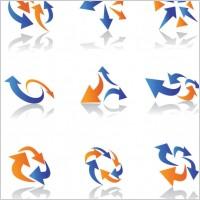 Link toDynamic arrow icons 01 vector