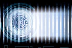 Dynamic circular background vector