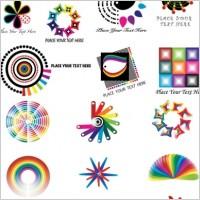 Link toDynamic color logo pattern vector