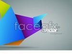 Link toDynamic color origami vector
