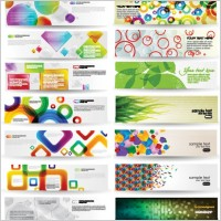 Link toDynamic colorful banner vector
