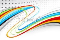 Link toDynamic colorful lines background vector graphics
