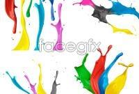 Dynamic colorful paint splash hd photo
