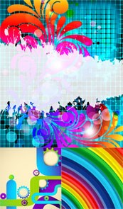Link toDynamic dazzling floral background vector