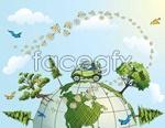Link toDynamic earth vector