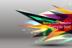 Link toDynamic fashion triangle vector background