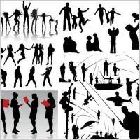 Link toDynamic figures silhouette vector