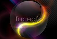 Dynamic glow gorgeous backgrounds vector iii