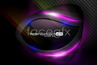 Dynamic glow gorgeous backgrounds vector iv