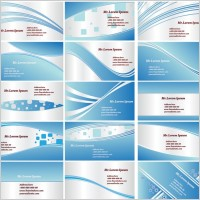 Link toDynamic lines of the blue card background vector