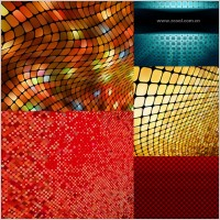 Link toDynamic mosaic background vector