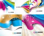Link toDynamic ribbon background vector