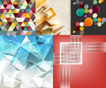 Dynamic stereo backgrounds vector