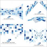 Link toDynamic technology box pattern background 03 vector
