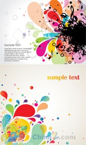 Link toDynamic trend pattern vector text background