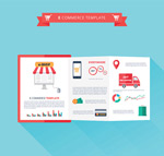 E-commerce fold vector