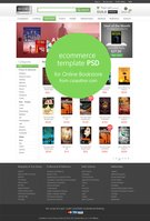 Link toE-commerce home page template psd