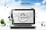 Link toE-time computer business psd