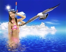 Link toEagles and beautiful free psd
