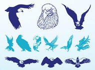 Link toEagles graphics set vector free
