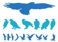 Link toEagles silhouettes set vector free