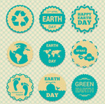 Link toEarth day green label vector