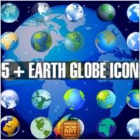 Link toEarth globe icons set