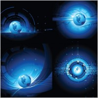 Link toEarth science and technology theme vector background sense