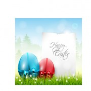 Link toEaster color egg and green grass vector 01 free