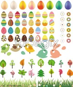 Link toEaster egg bunny grass vector