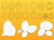 Link toEaster eggs illustrations vector free