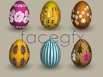 Link toEaster eggs vector material