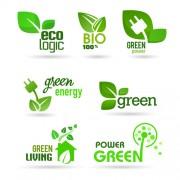Link toEco and bio creative logos vector 01 free