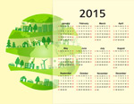 Link toEco-ring-style calendar vector