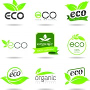 Link toEco with natural logos and labels vector 01 free