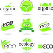 Link toEco with natural logos and labels vector 02 free