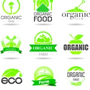 Link toEco with natural logos and labels vector 04 free