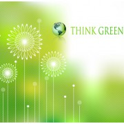 Link toEcologic with green design background vector 02